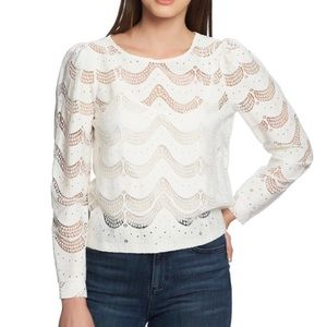 1. State Scalloped Ecru Blouse (Nordstrom)